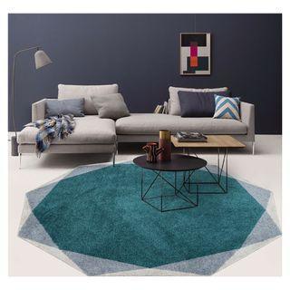 Modern Simplicity | Nonagon-shaped Rug | Area Rug | Carpet