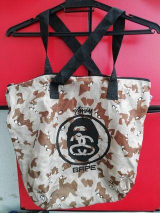 A Bathing Ape X stussy Tote Bag
