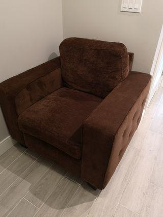 Single brown comfy chair