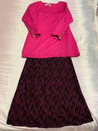 Baju Kurung Moden pink- harga termasuk penghantaran ke semenanjung Malaysia