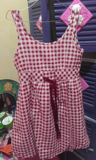 dress kotak kotak