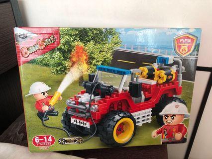 BanBao Lego 消防救災火車 積木