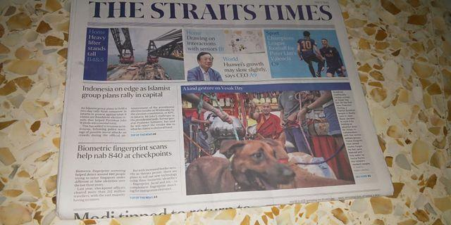 Straits times newspaper 📰