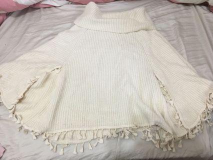 🚚 波西米亞風平口針織毛衣 (米白)