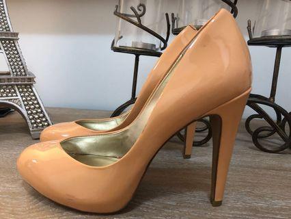 Jessica Simpson Peach Doll Stilettos
