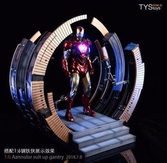 TYS toys 1/6 Ironman MK VI Suit-Up Gantry