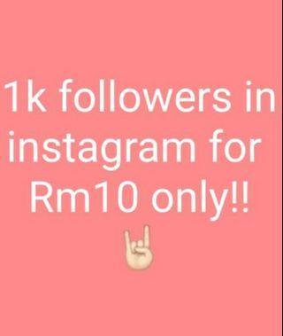 1K Followers for Instagram!!!!!