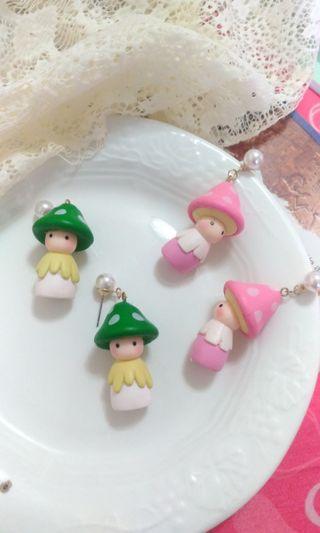 🚚 可愛小蘑菇頭👉抗敏👈耳環