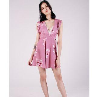 Kissablebella Floral sakura wrap dress M