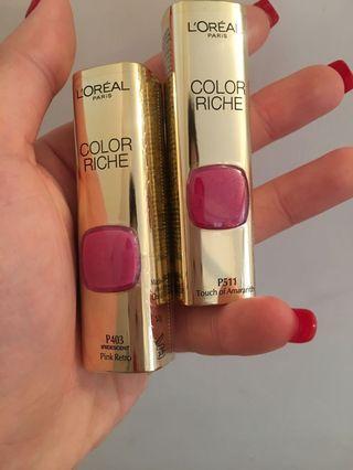 L'Oréal Paris lipstick $100 for 2