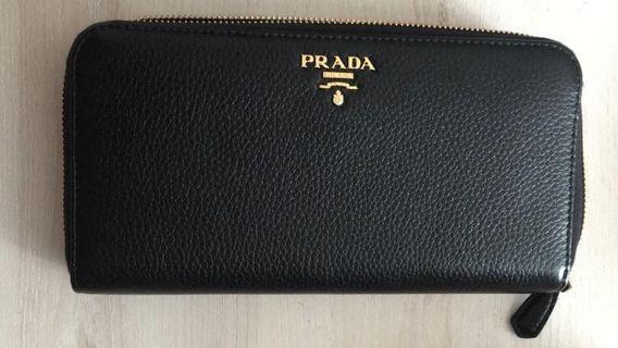 🚚 BNIB Prada Wallet Nero