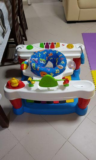 🚚 FISHER PRICE STEP PLAY PIANO BLUE