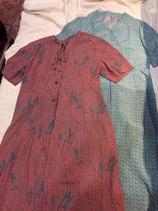 🚚 日本製 古着領結洋裝 vintage 有內裡