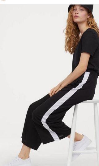 HnM Wide Pants-Black n White