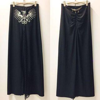 🚚 DARMASS專櫃黑色洋裝 銀線刺繡造型上衣裙