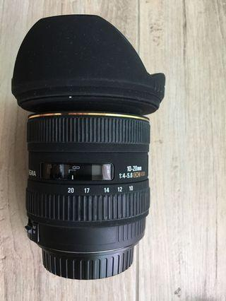 Canon SIGMA 10-20mm f/4-5.6 wide angle 超廣角鏡