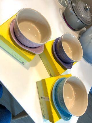 Le Creuset Plate on Dish 早餐碗連碟蓋 全新 lavender 粉紫 / pastel blue 粉藍 / chiffon Pink 粉紅
