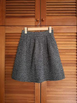 Korean A-line tweed skirt
