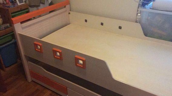 MUST SELL - Single Pull Out Bed with 3 Drawers