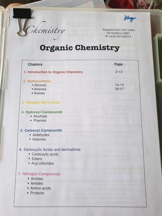 A Level Chemistry Notes VJC