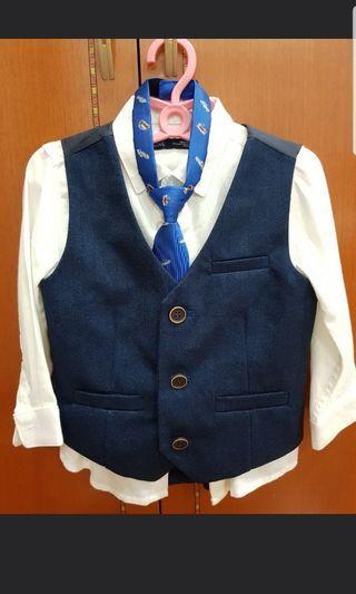 Next UK page boy suit (12-18m)
