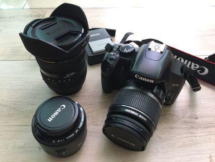 Canon DSLR EOS 450D Set (with 3 Lenses) 套裝連三鏡