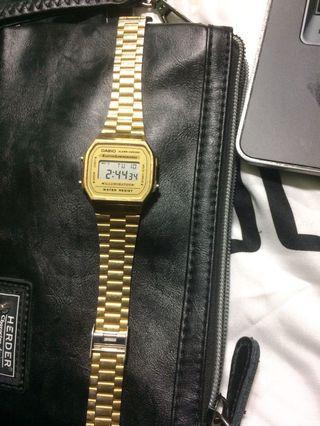 Casio Gold A168 digital watch