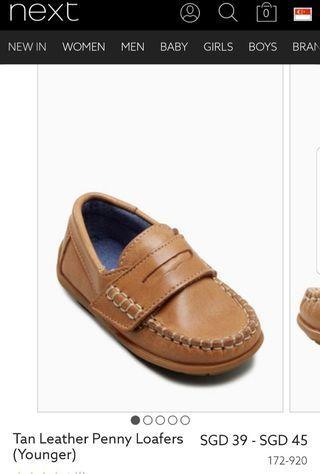 Next UK Leather penny loafer(UK 6)