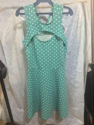 Teal Polkadot Dress