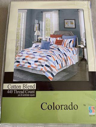 Cotton Blend Fitted Bedsheet Set