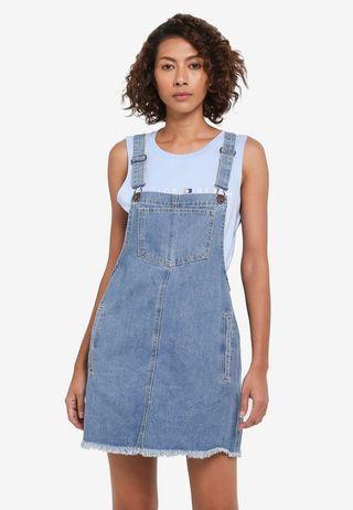 Cotton On Denim Pinafore Dress(Eur 36, size S)