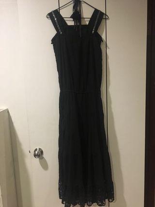 🚚 黑色無袖長裙
