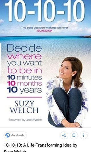 🚚 10-10-10: A Life-Transforming Idea  by Suzy Welch
