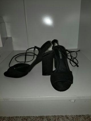Strappy wrap heels