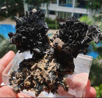 Landscape  Romania Stibnite Crystal Cluster