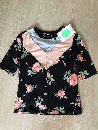 Monki floral top (new)