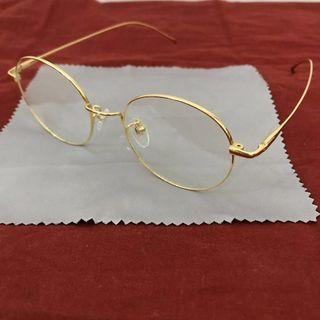 🚚 賣到6/2_金邊造型鏡框 文青眼鏡 彈性鏡腳(可配有度數鏡片)