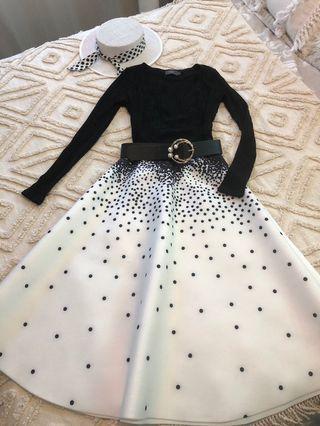 Black long sleeve crop knit faux wrap style