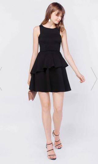 (Size S) Fayth Kaydi Skater Dress in Black