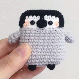 Penguin Handmade Airpods Case Crochet