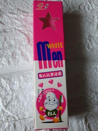 白人兒童牙膏 草莓香味