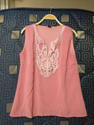 Pink top blouse