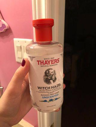Thayers witch hazel unscented no alcohol