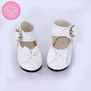 8分娃鞋 Blythe lati pukifee 合用 白色蝴蝶結鞋
