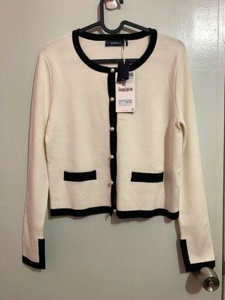 🚚 Brand new Zara Chanel inspired knitted cardi