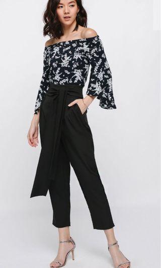 🚚 Love Bonito black Pamaina Peg Trousers