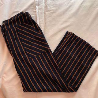 Pomelo navy blue with orange stripes pants