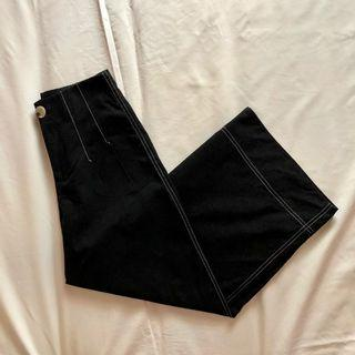 🚚 TEM vivy stitched high waisted culottes