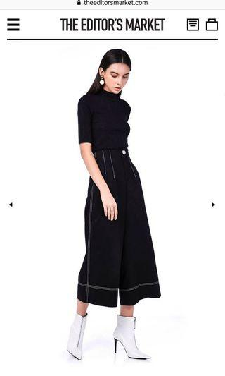 TEM vivy stitched high waisted culottes