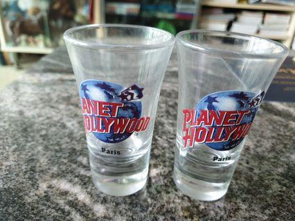 Vintage planet Hollywood tequila glasses